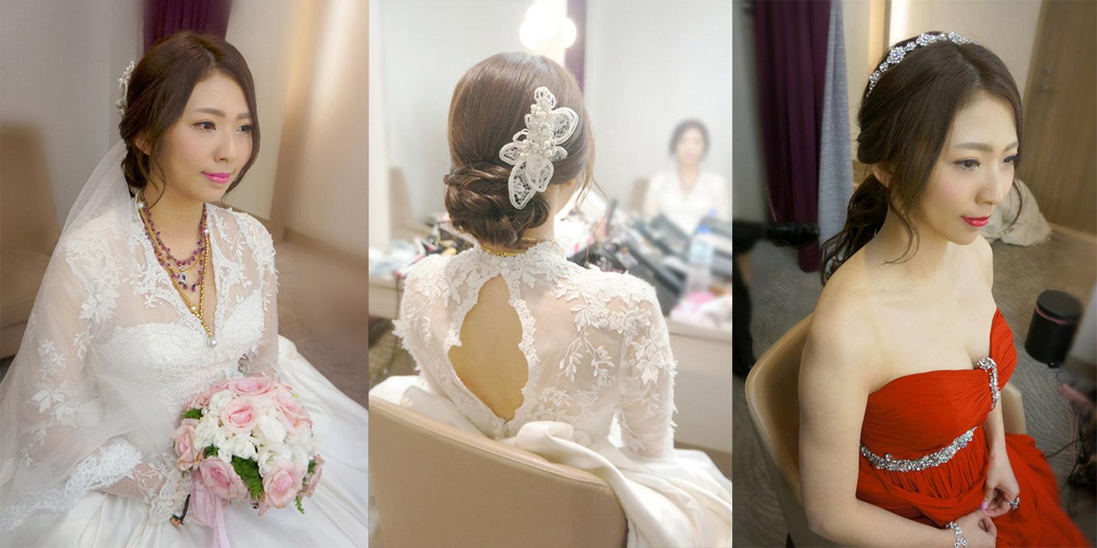 韓風新娘髮型精緻彩妝